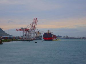 My first siting of Cap Capricorn. Docking yesterday afternoon in Tauranga
