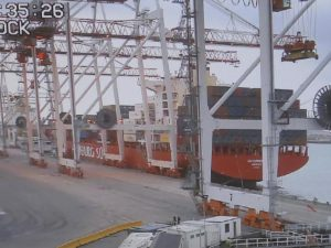 The next view from the Container Terminal Gate Security Camera Screen!