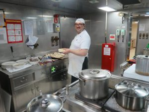 Always good to have a happy smiling chef!