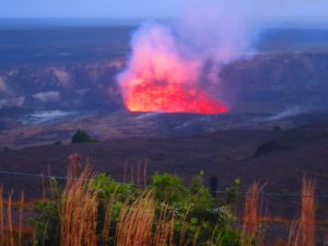 That 'Big Island' volcano loom just too far away to see