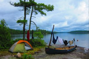 That's Imi's tent at The Boundary Waters a few years back... Simplicity deluxe!