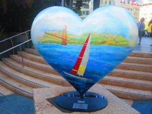 A delightful sculpture in 'some delightful square' in San Fran!